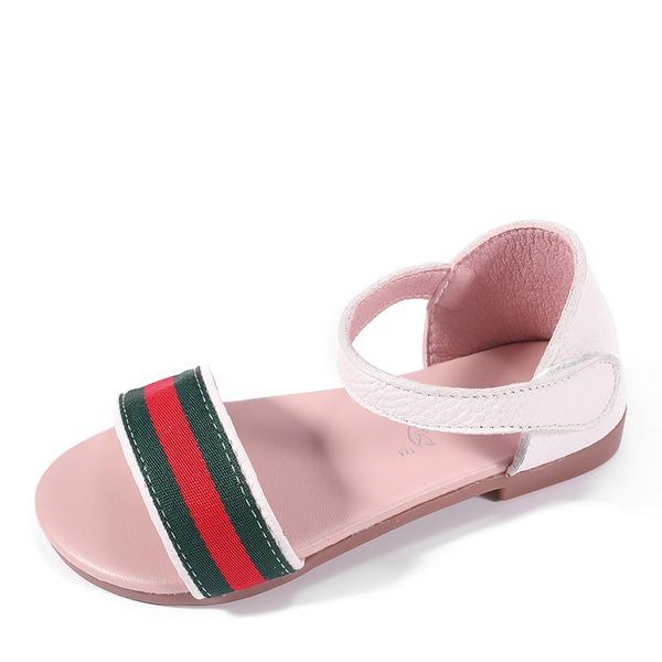 Jentas Titte Tå Leather Flate sko med Velcro