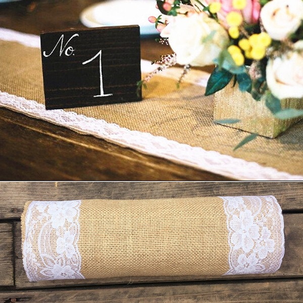 Tablecloth Linen/Lace (Sold in a single piece) Pretty Pretty Table Centerpieces
