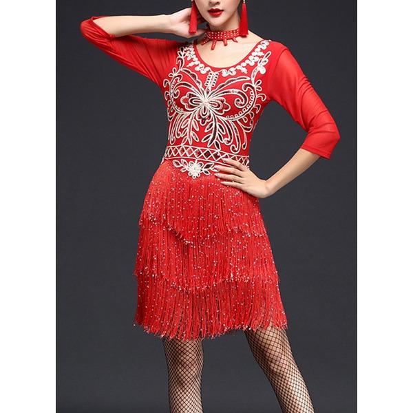 Femmes Tenue de danse Spandex Dentelle Danse latine Robes