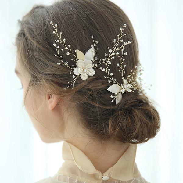 Senhoras Charmosa Perline Grampos de cabelo (Conjunto de 3)