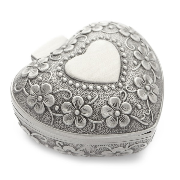 En forme de coeur Alliage/Argent plaqué Dames Boîte à bijoux