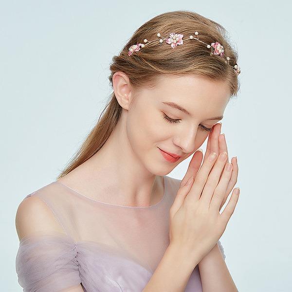 Damer Jobb Legering Pannebånd med Rhinestone/Venetianske Perle (Selges i ett stykke)
