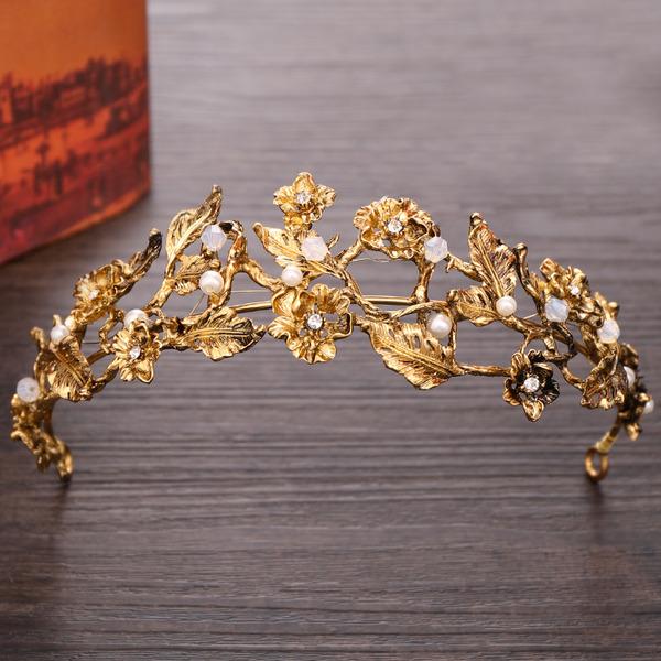 Damer Personlig Legering Tiaraer med Venetianske Perle