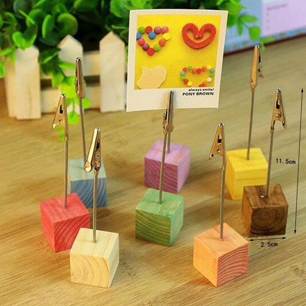 Wooden Place Card Holders (Set of 8)