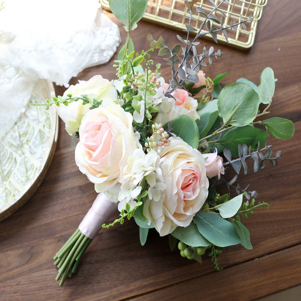 Simple And Elegant Silk Flower Bridal Bouquets - Bridal Bouquets