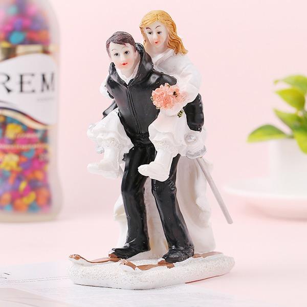Klassiska par/Kärlek är söt Resin Tårtdekoration (Säljs i ett enda stycke)
