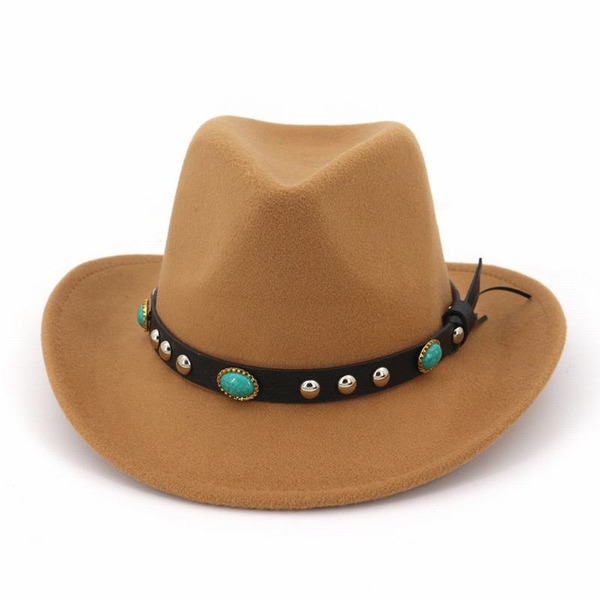 Unisex Glamourous/Classic/Eye-catching Wool Fedora Hats/Cowboy Hats