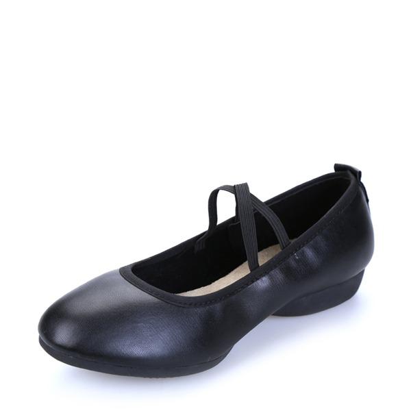 Mulheres Couro verdadeiro Tênnis sapatos de personagem Sapatos de dança