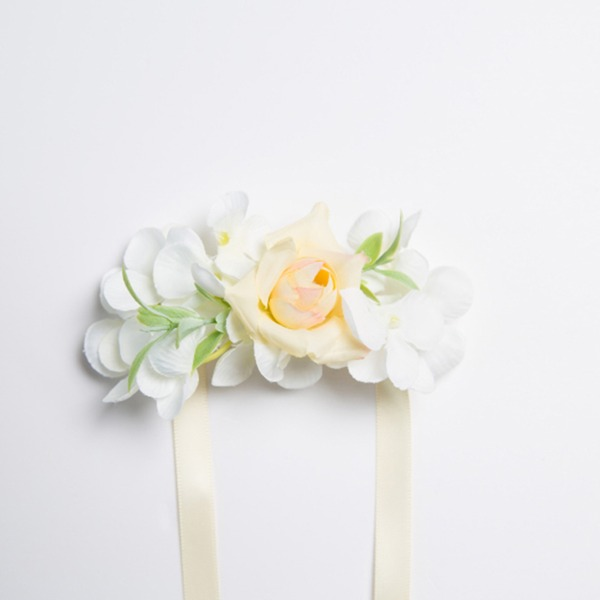Charming Free-Form Satin/Fabric Wrist Corsage (Sold in a single piece) -