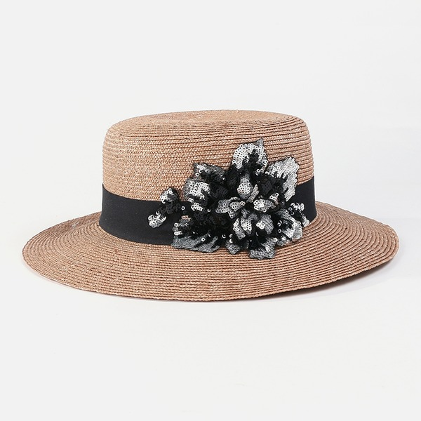 Ladies' Glamourous/Classic/Elegant/Simple/Nice Wheat Straw Straw Hats