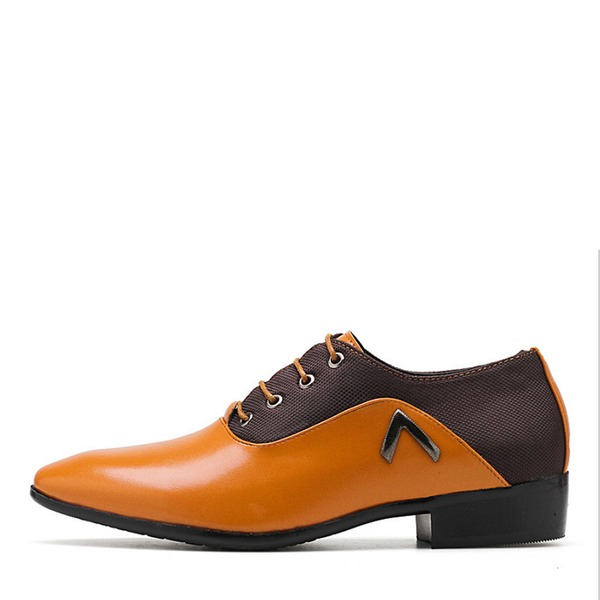 Men's Leatherette Lace-up Casual Work Men's Oxfords