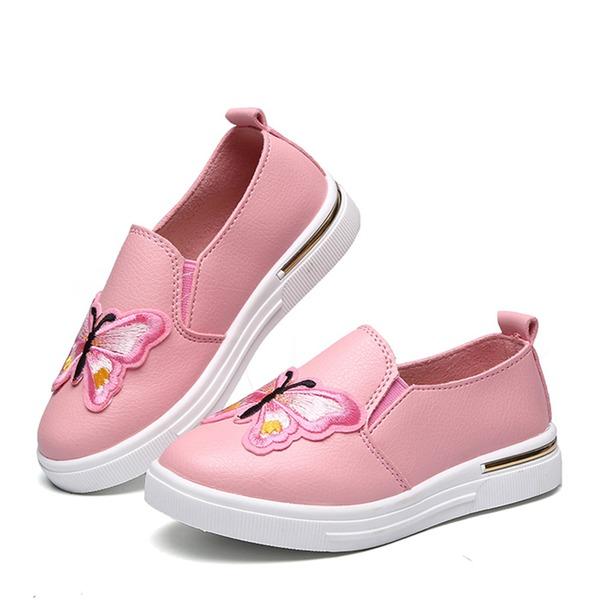 Girl's Closed Toe Loafers & Slip-Ons imitatieleer Flat Heel Flats met Van Toepassing
