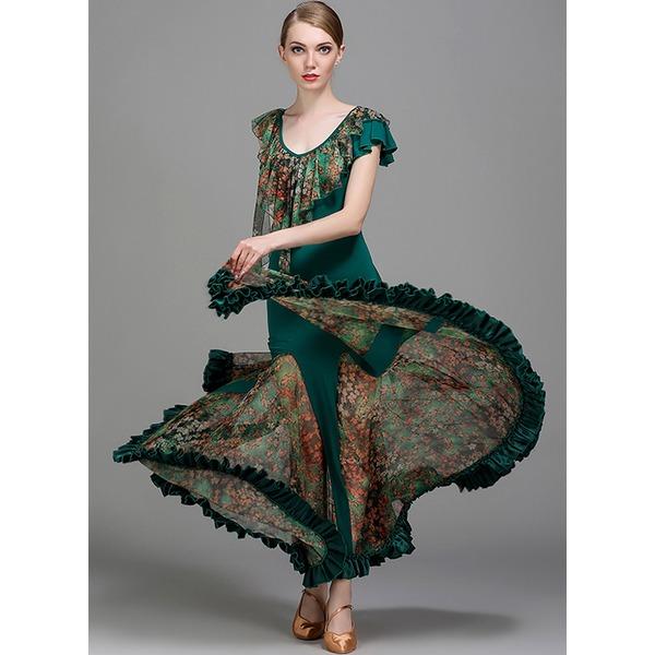 De mujer Ropa de danza Seda artificial Desempeño Sala de Baile Vestidos