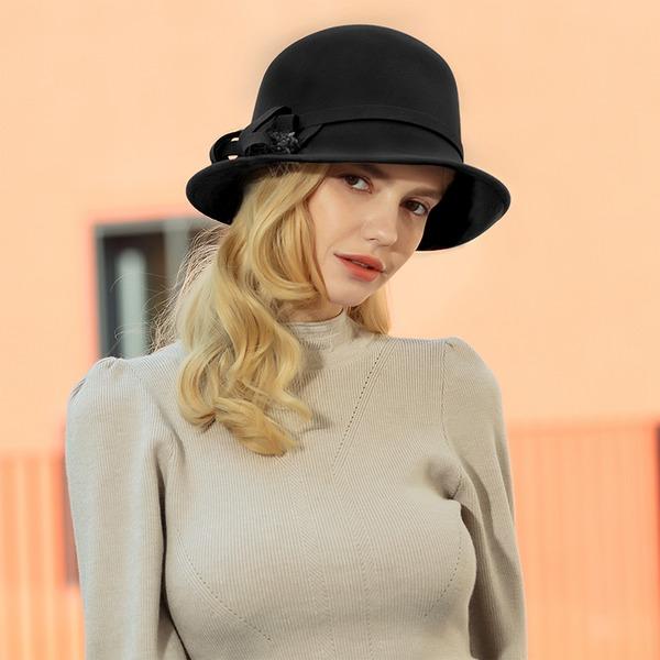 Ladies ' Romantyczny/Zabytkowe/Artystyczny Wełna Floppy Hat