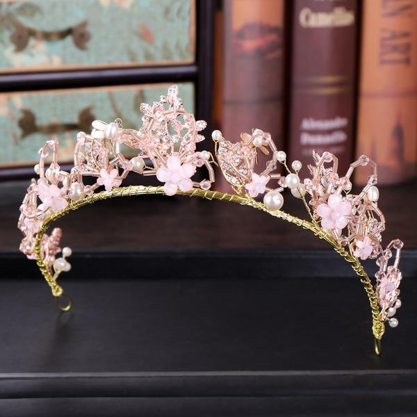 Señoras Especial Rhinestone/Aleación/La perla de faux Tiaras con Rhinestone/Perla Veneciano (Se venden en una sola pieza)
