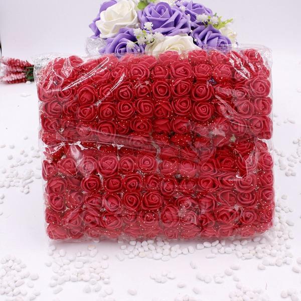 140PCS Styrofoam Rose DIY Accessories Artificial Flowers (140 Pieces)