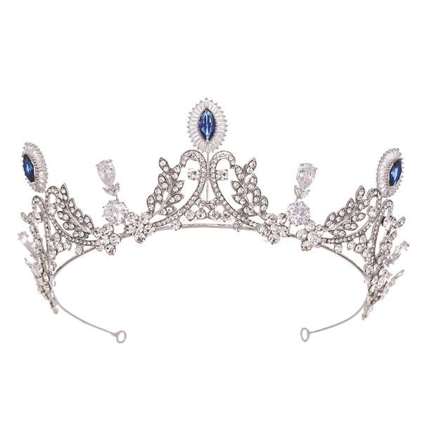 Damer Romantisk Legering Tiaraer med Rhinestone/Venetianske Perle