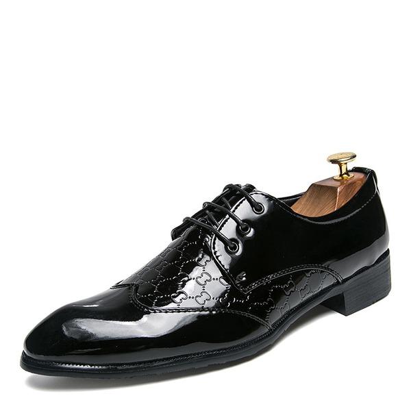 Herren Lackleder Zuschnüren Abendschuhe Herren-Oxford-Schuhe