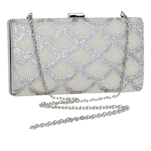 Elegante Cristal / Diamante/Perla Bolso Claqué