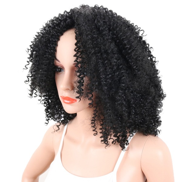 Kinky Curly Synthetic Hair Synthetic Wigs 340g