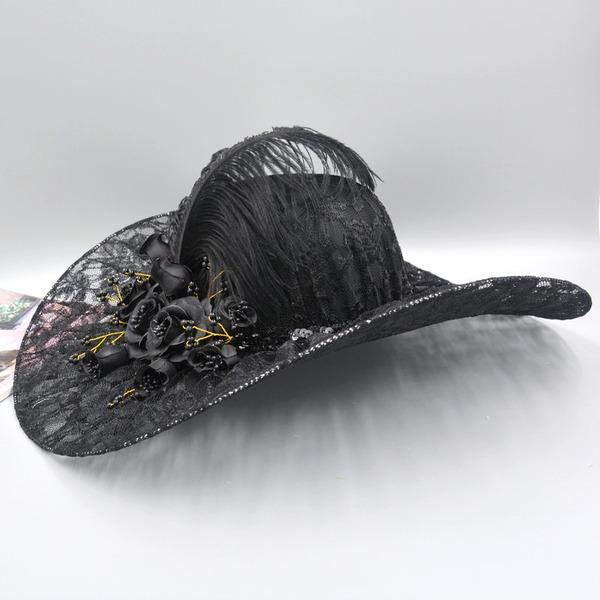 Dames Style Vintage/Artistique Batiste Chapeau melon / Chapeau cloche/Kentucky Derby Des Chapeaux