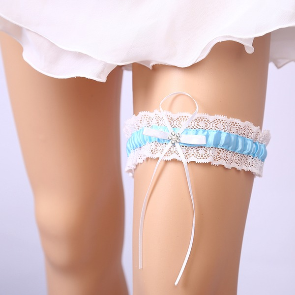 Elegant Lace With Rhinestone Wedding Garters