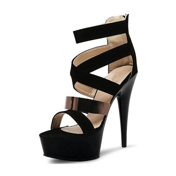 Kvinder PVC Stiletto Hæl sandaler Pumps Platform med Spænde sko