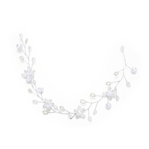 Filles Magnifique Cristal/De faux pearl Bandeaux avec Perle Vénitienne/Cristal (Vendu dans une seule pièce)