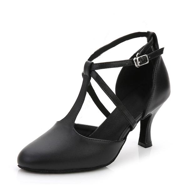 Женщины кожа На каблуках Бальные танцы Обувь для танцев