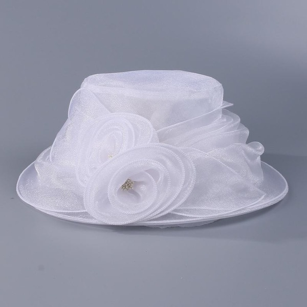 Damer' Gorgeous Organzapåse med Blomma Diskett Hat/Kentucky Derby Hattar/Tea Party Hattar
