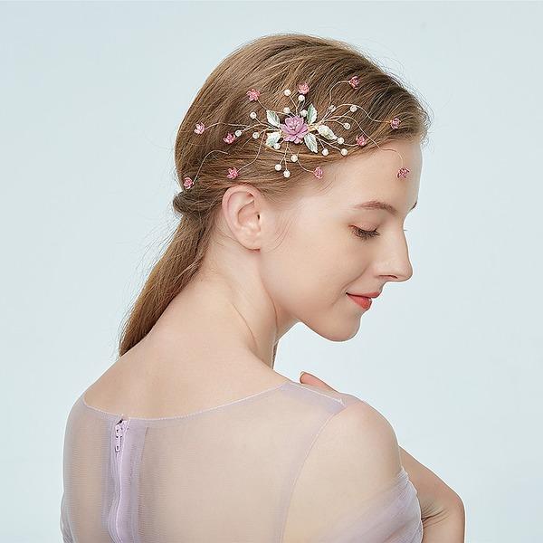 Damer Glamorøse Legering Hårnåler med Rhinestone/Venetianske Perle (Selges i ett stykke)