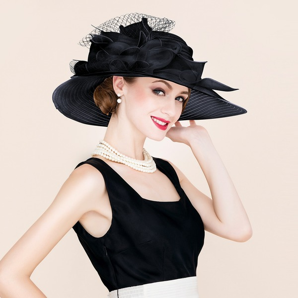 Señoras' Hermoso/Especial/Elegante Papiro/Tul Disquete Sombrero/Derby Kentucky Sombreros