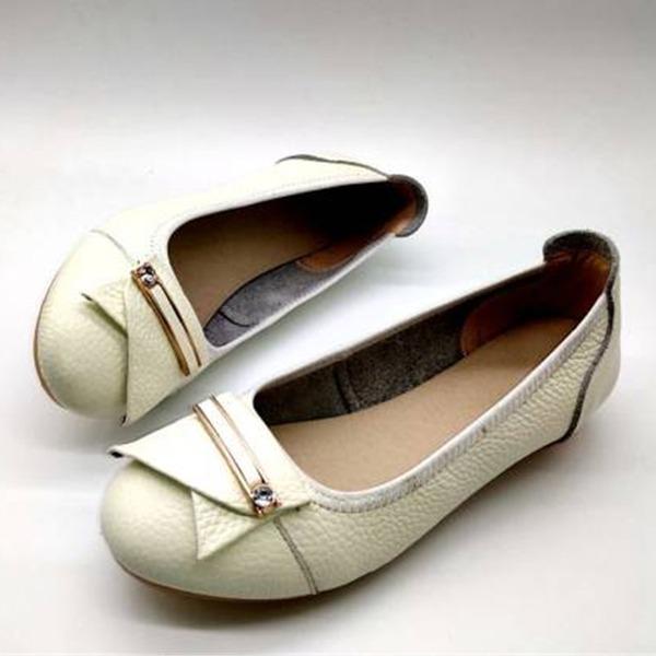 Vrouwen Echt leer Flat Heel Flats أحذية