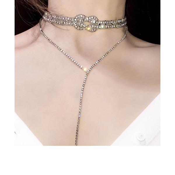 Einzigartig Legierung mit Strass Frauen Mode-Halskette