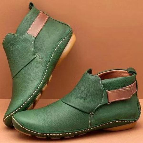 Женщины PU Плоский каблук Ботинки Полусапоги обувь