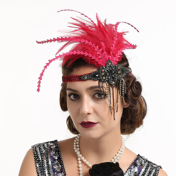Dames Glamour/Unique/Exceptionnel/Accrocheur Feather avec Feather Chapeaux de type fascinator/Kentucky Derby Des Chapeaux/Chapeaux Tea Party