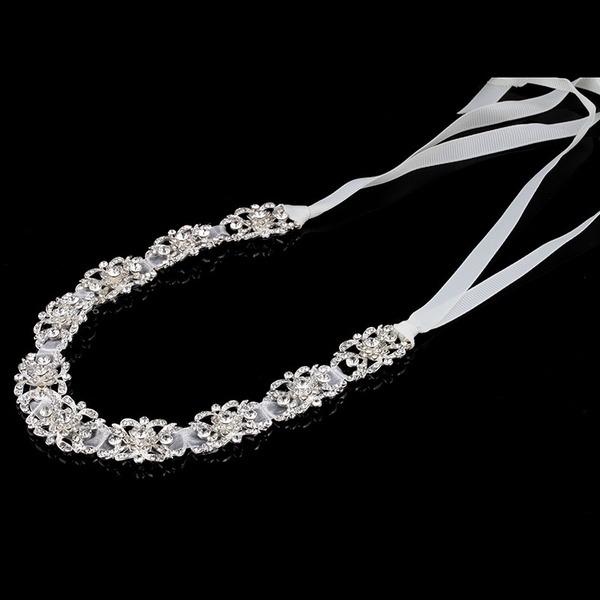 Gorgeous Rhinestone/Alloy/Satin Headbands With Rhinestone (Sold in single piece)