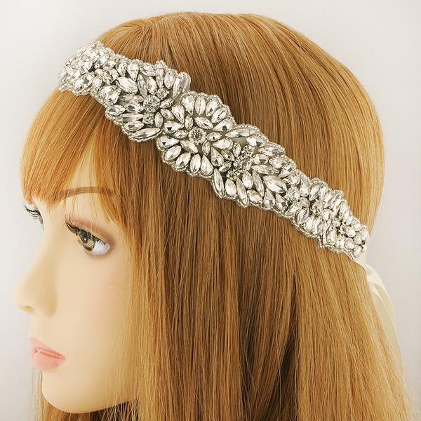 Damen Schöne Satin Stirnbänder mit Strass (In Einem Stück Verkauft)