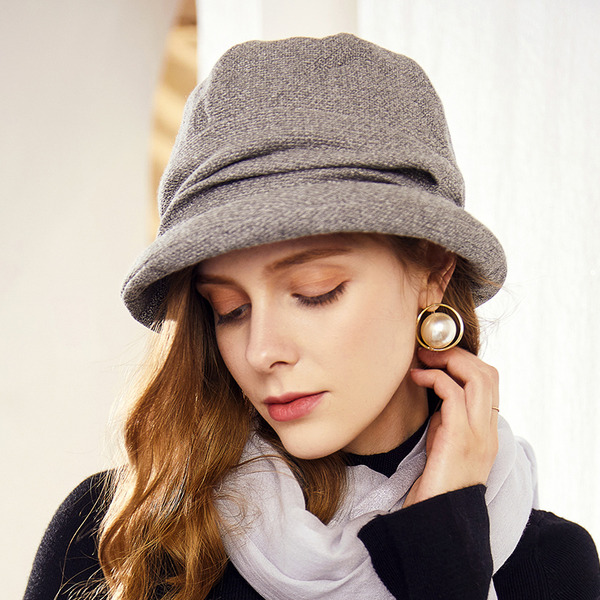 Ladies' Classic/Simple Wool Blend Floppy Hats