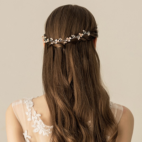 Ladies Beautiful Alloy/Freshwater Pearl Headbands (Sold in single piece)