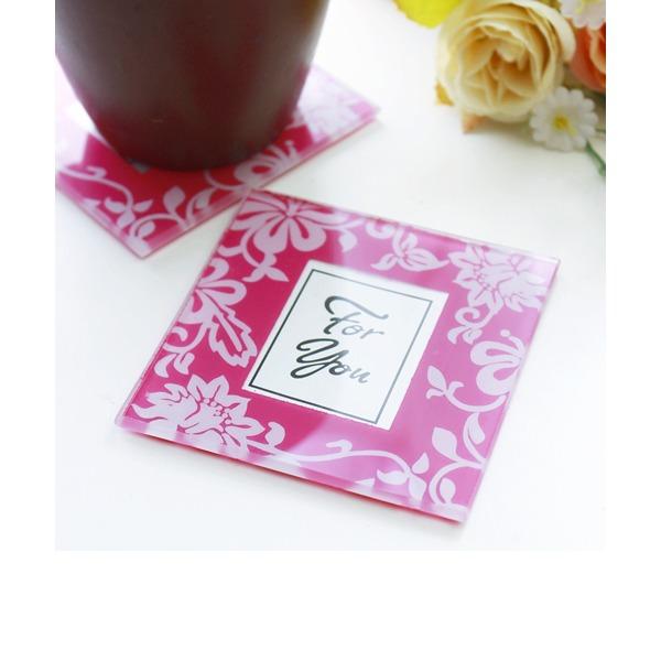 Klassische Art/Schön/Elegant/Blumen Quadrat Untersetzer (Set von 2)