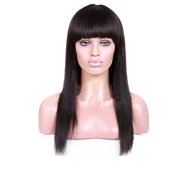 4A Ej remy Straight Mänskligt hår Lace Front Parykar