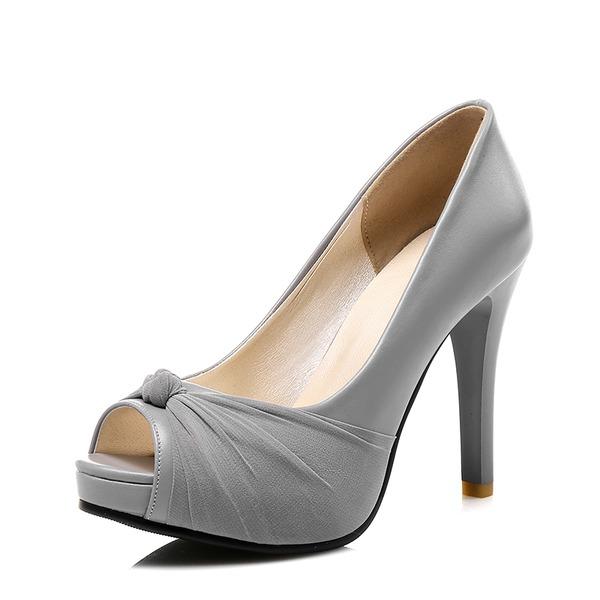 Naisten Keinonahasta Cone heel Avokkaat jossa Bowknot kengät
