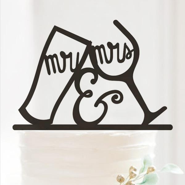 Mr & Mrs Akryl Bryllup Kake Topper/Jubileum Kake Topper