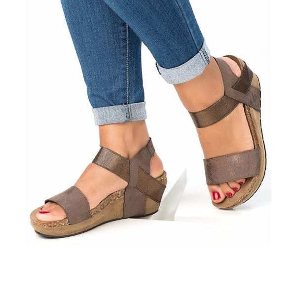 Femmes PU Talon compensé Sandales Compensée avec Autres chaussures