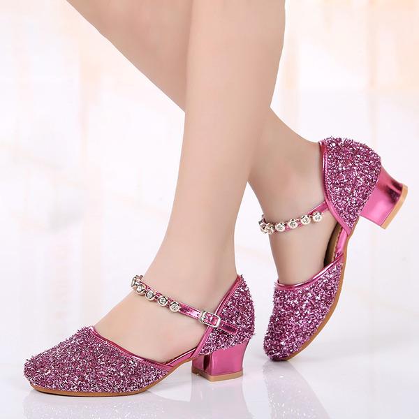 Детская обувь кожа Бальные танцы Обувь для танцев