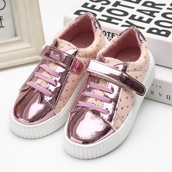 Fille de Bout fermé similicuir talon plat Chaussures plates Sneakers & Athletic avec Dentelle
