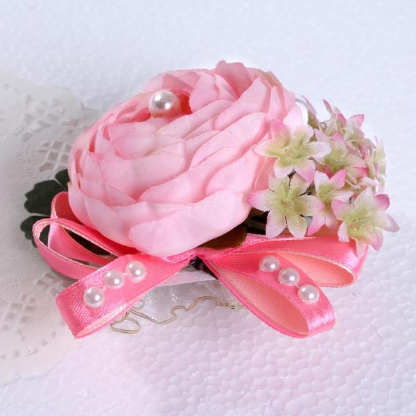 Round Silk Wrist Corsage (Sold in a single piece) -