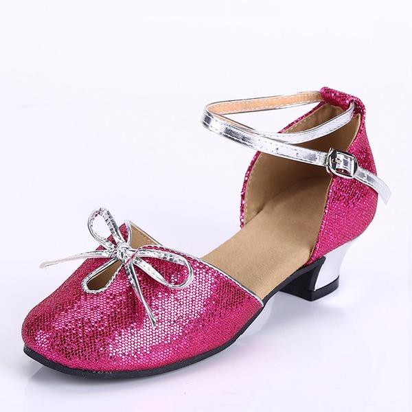 Kids' Leatherette Heels Latin Dance Shoes