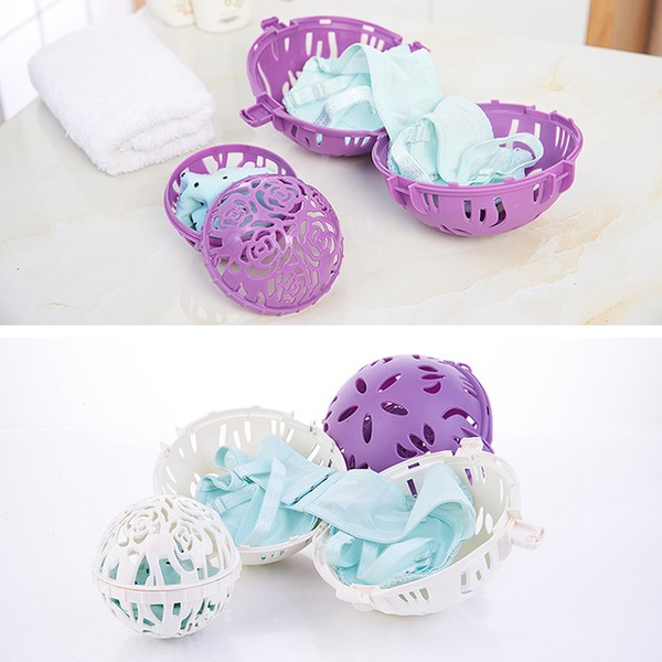 Plastic Vaskebold Tørretumbler Bold Holder Tøjvask Blød Frisk Vaskemaskine Tørretumbler (Sæt af 2) Gaver